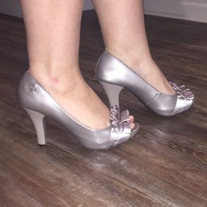 Patent Leather Grey Heels Fergalicious By Fergie